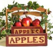 κισσός καλαθιών μήλων Στοκ φωτογραφία με δικαίωμα ελεύθερης χρήσης