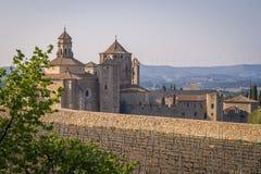 Κιστερκιανό μοναστήρι της Σάντα Μαρία de Poblet ή Monestir de Poblet στην περιοχή της Καταλωνίας της Ισπανίας Στοκ φωτογραφία με δικαίωμα ελεύθερης χρήσης