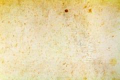 Κιτρινισμένη τρύγος σύσταση εγγράφου με τα καφετιά σημεία αφηρημένη ανασκόπηση στοκ φωτογραφία