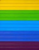Κιτρινοπράσινη μπλε πορφύρα χρώματος σανίδων Στοκ φωτογραφία με δικαίωμα ελεύθερης χρήσης