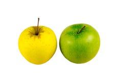 Κιτρινοπράσινο φως στάσεων της Apple lanch σε ένα άσπρο υπόβαθρο Στοκ φωτογραφίες με δικαίωμα ελεύθερης χρήσης