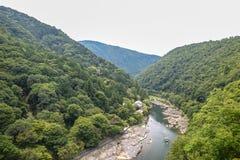 Κιότο, Ιαπωνία - 24 Ιουλίου 2016 Ποταμός Katsura στην περιοχή Arashiyama του Κιότο, Ιαπωνία Στοκ εικόνες με δικαίωμα ελεύθερης χρήσης