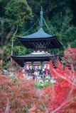 Κιότο, Ιαπωνία - 17 Νοεμβρίου 2017: Παγόδα Tahoto στη βουνοπλαγιά Στοκ φωτογραφία με δικαίωμα ελεύθερης χρήσης