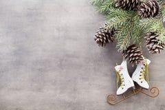 Κλάδοι Χριστουγέννων χαιρετισμός Χριστουγέννων καρτών Χριστούγεννα συμβόλων Στοκ εικόνες με δικαίωμα ελεύθερης χρήσης