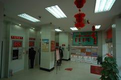 Κλάδος του γωνιακός-Nanchang μηχανών αφηγητών του ATM της τράπεζας εμπόρων της Κίνας Στοκ εικόνα με δικαίωμα ελεύθερης χρήσης