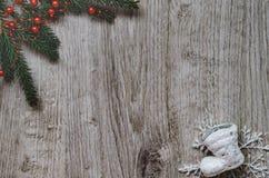 Κλάδος του FIR, snowflake, μπότα Στοκ εικόνες με δικαίωμα ελεύθερης χρήσης