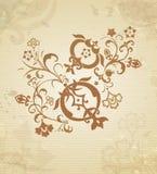 Κλάδος των καρπών και των λουλουδιών ροδιών Στοκ εικόνα με δικαίωμα ελεύθερης χρήσης
