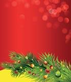 Κλάδος Χριστουγέννων διανυσματική απεικόνιση
