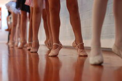 κλάση μπαλέτου Στοκ εικόνα με δικαίωμα ελεύθερης χρήσης