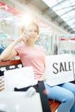 Κλήση αγοραστών Στοκ Εικόνες