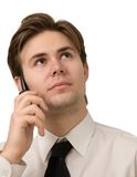 κλήση επιχειρηματιών στοκ φωτογραφία με δικαίωμα ελεύθερης χρήσης