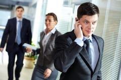 Κλήση επιχειρηματιών Στοκ Εικόνες
