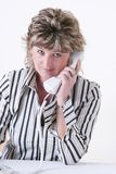 κλήση που κάνει τη γυναίκ&alp Στοκ Φωτογραφία