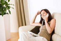 κλήση της γυναίκας βασι&kapp στοκ εικόνες