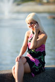 κλήση του κοριτσιού Στοκ Εικόνες