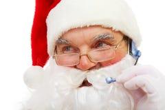κλήση του santa Claus Στοκ φωτογραφία με δικαίωμα ελεύθερης χρήσης