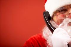 κλήση του santa Claus Στοκ εικόνα με δικαίωμα ελεύθερης χρήσης