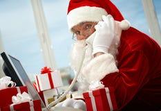 κλήση του santa Claus Στοκ Εικόνες