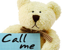 κλήση teddy Στοκ φωτογραφία με δικαίωμα ελεύθερης χρήσης