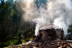 Κλίβανος άνθρακα στοκ εικόνα