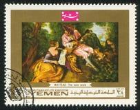 Κλίμακα αγάπης από Watteau Στοκ εικόνα με δικαίωμα ελεύθερης χρήσης