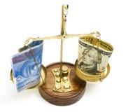 κλίμακα δολαρίων Στοκ φωτογραφία με δικαίωμα ελεύθερης χρήσης