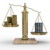 κλίμακες πετρελαίου χρημάτων απεικόνιση αποθεμάτων