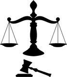 Κλίμακες της δικαιοσύνης Στοκ Εικόνα