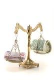 κλίμακες χρημάτων Στοκ Φωτογραφία