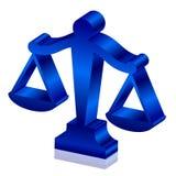 Κλίμακες δικαιοσύνης Στοκ φωτογραφίες με δικαίωμα ελεύθερης χρήσης