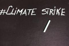 Κλίμα απεργίας Hashtag στοκ εικόνα με δικαίωμα ελεύθερης χρήσης