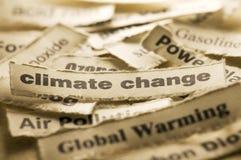 κλίμα chage Στοκ εικόνα με δικαίωμα ελεύθερης χρήσης