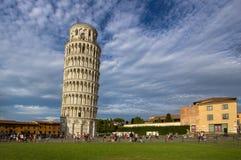 Κλίνοντας πύργος της Πίζας, Ιταλία Στοκ Φωτογραφία