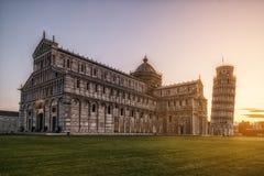 Κλίνοντας πύργος της Πίζας στην Πίζα - την Ιταλία στοκ φωτογραφία με δικαίωμα ελεύθερης χρήσης