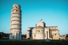 Κλίνοντας πύργος της Πίζας στην Πίζα - την Ιταλία στοκ εικόνες