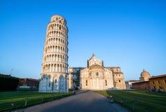 Κλίνοντας πύργος της Πίζας στην Πίζα - την Ιταλία στοκ εικόνα