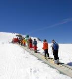 κλίσεις Ισπανία σκι θερέτρου pradollano Στοκ Φωτογραφίες