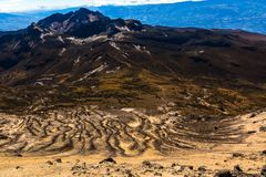 Κλίσεις του ηφαιστείου Guagua Pichincha που κατεβαίνουν προς Στοκ εικόνα με δικαίωμα ελεύθερης χρήσης