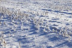 Κλίσεις χιονιού το χειμώνα Στοκ Εικόνες