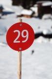 κλίση σκι 29 nr Στοκ Φωτογραφία