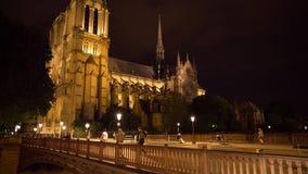 Κλίση φωτός της ημέρας καθεδρικών ναών εκκλησιών της Παναγίας των Παρισίων και παν βίντεο φιλμ μικρού μήκους