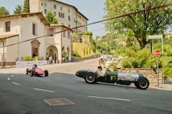 Κλασικά αυτοκίνητα τύπου στα ιστορικά Grand Prix 2017 του Μπέργκαμο Στοκ φωτογραφία με δικαίωμα ελεύθερης χρήσης