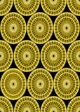 Κλασικά χρυσά σχέδια στο μαύρο υπόβαθρο, άνευ ραφής διακόσμηση damask στο ύφος, χρυσή μορφή κύκλων στη μαύρη περιοχή Στοκ φωτογραφίες με δικαίωμα ελεύθερης χρήσης