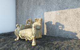 Κλασική έδρα σε έναν κατασκευασμένο τοίχο Στοκ φωτογραφία με δικαίωμα ελεύθερης χρήσης