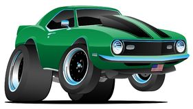 Κλασική δεκαετίας του '60 διανυσματική απεικόνιση κινούμενων σχεδίων αυτοκινήτων μυών ύφους αμερικανική Στοκ Εικόνες
