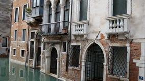 Κλασική ενετική εικονική παράσταση πόλης αρχιτεκτονικής και καναλιών Ιταλία Βενετία φιλμ μικρού μήκους