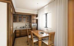 Κλασική κουζίνα Στοκ εικόνα με δικαίωμα ελεύθερης χρήσης