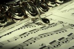 κλασική μουσική φλαούτω Στοκ Φωτογραφίες