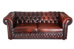 Κλασικός γνήσιος καναπές δέρματος στοκ εικόνες