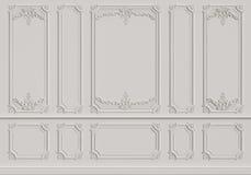 Κλασικός εσωτερικός τοίχος με τα σχήματα διανυσματική απεικόνιση
